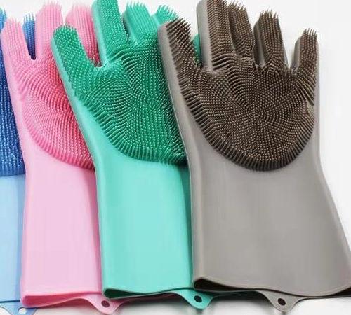 Перчатки-губки MAGIC BRUSH за 1490 — РАЗВОД